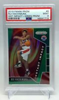 Rui Hachimura 2019-20 Panini Prizm Impact Green SP Rookie RC PSA 9 ( Wizards )
