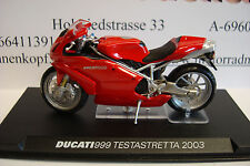 Ducati 999 Testastretta 2003 Rouge - 1:24 Modèle Haut de Gamme