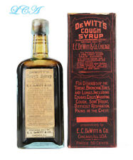 HISTORICAL antique ONE MINUTE COUGH Syrup LABELED patent medicine bottle w OPIUM