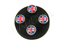 Genuine LAND ROVER Red & Blue Union Jack Tire Wheel Valve Stem Caps Set of 4