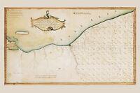 MAP ANTIQUE 1796 PORTER CONNECTICUT RESERVE LAND CLEVELAND REPLICA PRINT PAM1662