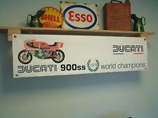 Ducati 900ss pvc motocycle workshop banner for Isle of Man TT race Mike Hailwood