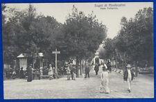 BAGNI DI MONTECATINI Viale Tettuccio animata viaggita 1912 f/p #20859