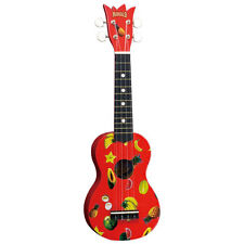 MAHALO RED PINEAPPLE SOPRANO UKULELE BRAND NEW w BAG REAL INSTRUMENT