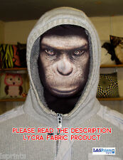 Scary Halloween Full Face Mask Creepy Monkey Face Fancy Dress Fabric Stag Do