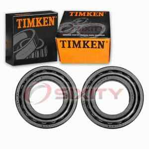 2 pc Timken Rear Differential Bearing Sets for 1980-1991 Peugeot 505 by
