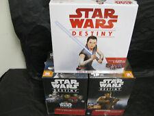 Star Wars Destiny Combo Spirit of Rebellion / Awakenings Boxes + 2 Player NIB's