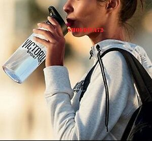 Victoria's Secret Sport Water Bottle Black Pink Red White Logo NEW NIB