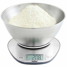 VonShef 07652 Precise Digital Mixing­ Bowl Kitchen Scale - Stainless Steel