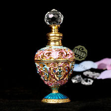 Vintage Crystal Metal Perfume Bottle Glass Flower Rattan Shaped Empty Gifts 5ml