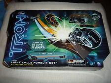 2010 Disney Spin Master Tron Legacy Light Cycle Pursuit Set MISP