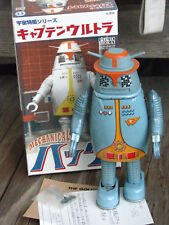 "RARE ~ BILLIKEN 2000 Captain Ultra's HAUK ROBOT Wind up 9"" Tin Toy ~ JAPAN"