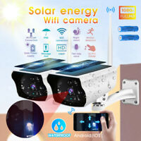 Outdoor Solar Wireless WiFi Security IP Camera 1080P HD Waterproof Night Vision