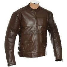 "RTX HARLEY BROWN Pure COWHIDE Armoured Leather Motorcycle Biker Jacket 46"" 2XL"