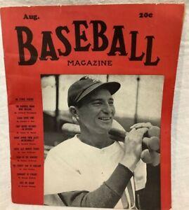 Vintage Baseball Magazine August 1942 Paul Waner Ted Williams Foxx DiMaggio