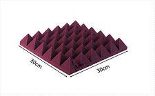 8 PCS Acoustic Pyramid Studio Foam In Burgundy Sound Absorption Foam