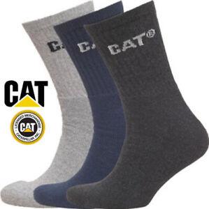 CAT Caterpillar Mens Trainer Winter Socks Cushioned Heavy Duty Sports Work lot