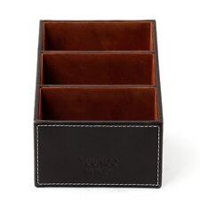 Leather Phone/TV Remote Control Storage Box Home Desk Organizer Holder US stock