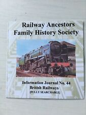 Genealogy: Railway Ancestors Family History Society Journal 44 CD