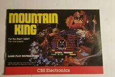 MOUNTAIN KING FOR ATARI 5200 MANUAL ONLY - CBS VIDEO GAMES