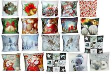 Kissenhülle 40x40 cm WEIHNACHTEN Weihnachtskissen Bezug Kissen Kissenplatte Case
