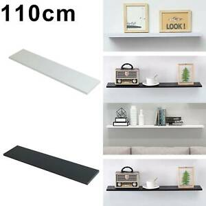 High Gloss Wood Floating Wall Shelf Shelves White Black Display Storage Unit UK