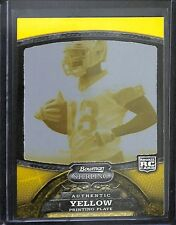 2008 Bowman Sterling Football Yellow Printing Plate #43 Martellus Bennett No 1 o