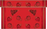 1 Tischläufer Tiffany in Rot aus Linclass® Airlaid 40cm x 4,80m - Weihnachten