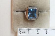 alter Ring,  echt Silber,  hellblauer Mittelstein