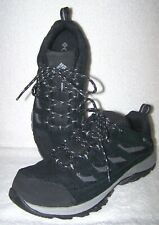 Columbia Crestwood Hiking Shoes 14595-010, Black Suede Men's Size 7.5 W / 40.5