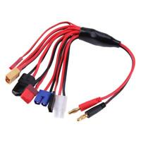 8in1 Ladekabel RC Lipo Akku Batterie Adapterkabel 4mm Bananenstecker Goldstecker