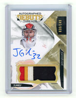 2017-18 Jon Gillies Ultimate Collection Debut Threads Auto Autograph Patch