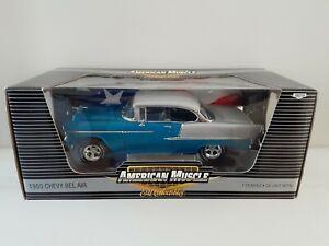Rare 1:18 American Muscle ERTL 1955 Chevy Belair Model Diecast Car Chevrolet