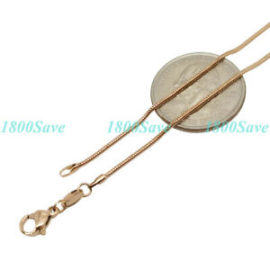 18K Rose Gold Filled Tarnish-Resist Wave/Snake/Box/Starry/Anchor Chain Necklace