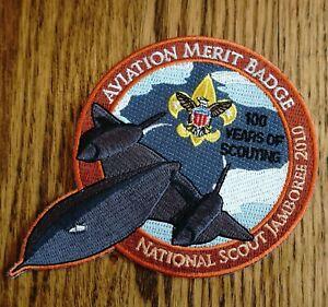 2010 Boy Scouts National Jamboree Aviation Merit Badge SR71 Aircraft  Patch