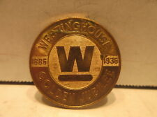 1936 Westinghouse Refrigerator 50th Anniversary Golden Jubilee Brass Medal