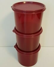 Tupperware Stacking Storage Containers Lot Set 3 NEW Cranberry? Ruby Red?