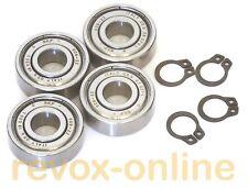 4 Kugellager Motorlager 608ZZ und 4 Sicherungsringe für Revox C274 ball bearing