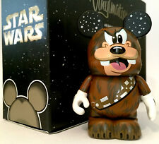 """DISNEY VINYLMATION 3"""" STAR WARS CHARACTERS CHEWBACCA GOOFY COLLECTIBLE FIGURE"""