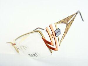 Hochwertige Damenbrille Brillenfassung ausgefallen breite Designbügeln Gr. M
