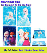 Frozen Elsa Anna Smart Leather Cover Case For iPad 4/3/2 | Air 2/1 | Mini 3/2/1