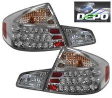 LED Tail Lights CHROME Housing by DEPO Fits 03-04 Infiniti G35 G-35 SEDAN 4D