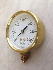 """3""""  all brass steam pressure gauge reading 0-300psi"""