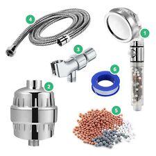 StoneStream Handheld Showerhead Hard Water Filter Wall Shower Adapter - 5-Pc Kit