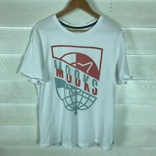 New listing Mooks Clothing Culture Short Sleeve Graphic Mens White T-Shirt Size L