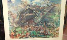 """Vintage Oskar Kokoschka Lithograph """"Montana Landscape 1947"""" Shorewood/Zurich"""