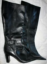 BLACK LEATHER CORELLI BOOTS 39