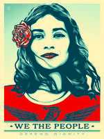 Shepard Fairey Obey Giant We The People  Giclee' Canvas Print Poster 18 x 24