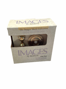 Baldwin Images Collection MYSTIC Solid Polished Brass Robe Hook #3565-030