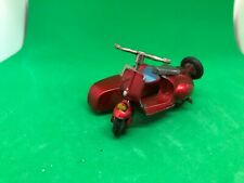 Tekno Denmark 443 Vespa Scooter with sidecar Very Good Rare Metallic red